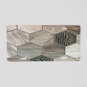 abstract geometric Hexagon Aluminum License Plate