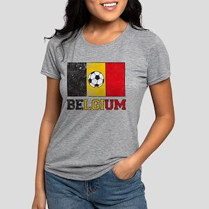 Belgian Soccer Womens Tri-blend T-Shirt