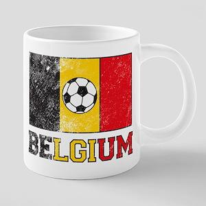 Belgian Soccer 20 oz Ceramic Mega Mug