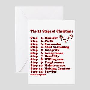 12 Steps Of Christmas Greeting Card