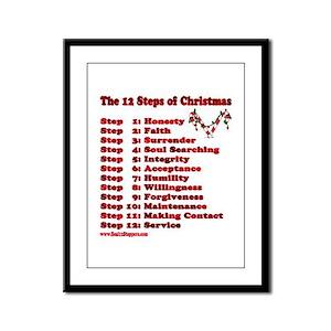 12 Steps Of Christmas Framed Panel Print