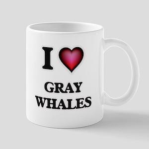 I Love Gray Whales Mugs