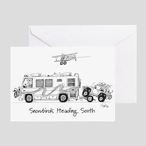 Snowbirds Greeting Card