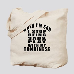Play With Tonkinese Cat Tote Bag