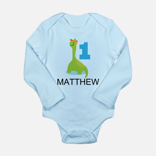 Personalized 1st Birthday Dinosaur Body Suit