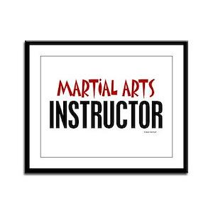 Martial Arts Instructor Framed Panel Print