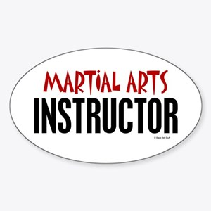 Martial Arts Instructor Oval Sticker