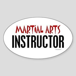 Martial Arts Instructor Oval Sticker