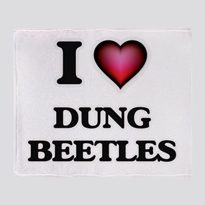 I Love Dung Beetles Throw Blanket