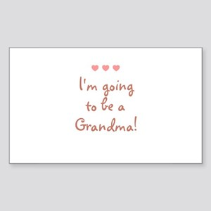 I'm going to be a Grandma! Rectangle Sticker