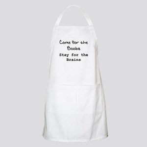 """Boobs & Brains"" BBQ Apron"
