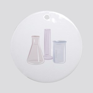 Beakers Round Ornament