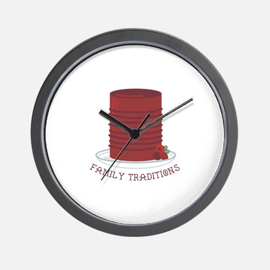 Family Traditions Wall Clock