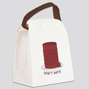 Dont Hate Cranberries Canvas Lunch Bag