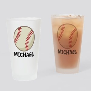 Personalized Baseball Sports Drinking Glass