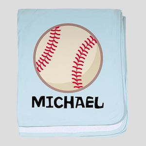 Personalized Baseball Sports baby blanket