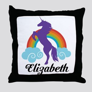 Personalized Unicorn Gift Throw Pillow