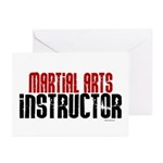 Martial Arts Instructor 2 Greeting Cards (Pk of 10