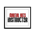 Martial Arts Instructor 2 Framed Panel Print