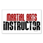 Martial Arts Instructor 2 Rectangle Sticker