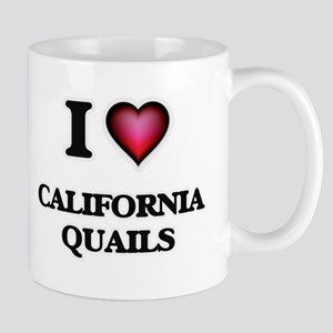 I Love California Quails Mugs
