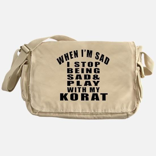 Play With Korat Cat Messenger Bag