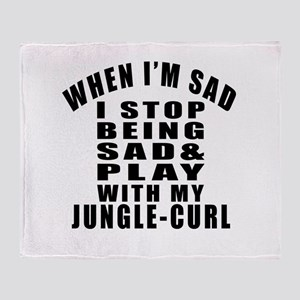 Play With Jungle-curl Cat Throw Blanket