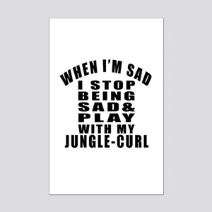 Play With Jungle-curl Cat Mini Poster Print