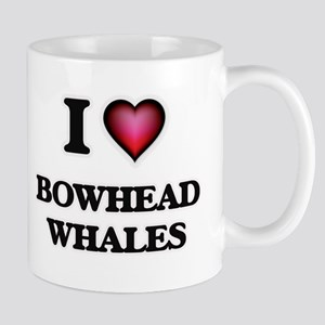 I Love Bowhead Whales Mugs