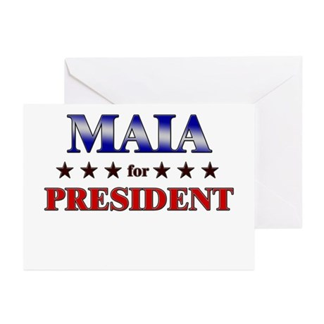 MAIA for president Greeting Cards (Pk of 20)