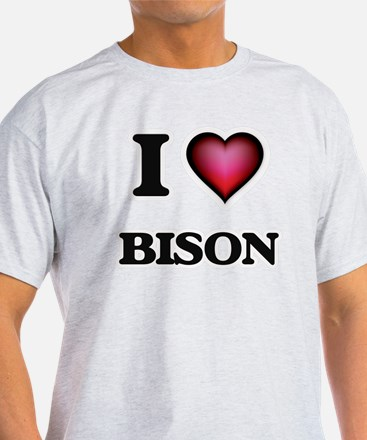 I Love Bison T-Shirt