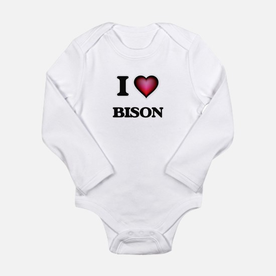 I Love Bison Body Suit