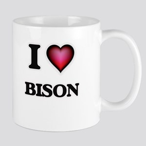 I Love Bison Mugs