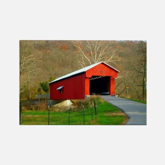 Busching Bridge -Versailles, Indiana Magnets