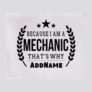 Gifts for Mechanic Personalized Throw Blanket