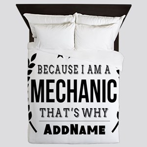 Gifts for Mechanic Personalized Queen Duvet