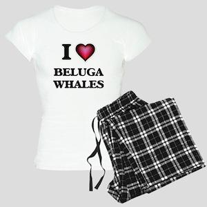 I Love Beluga Whales Women's Light Pajamas