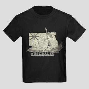 Vintage Australia Kids Dark T-Shirt