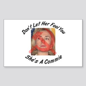 She's a Commie Rectangle Sticker