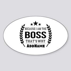 Gifts for Boss Personalized Sticker (Oval)