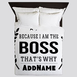 Gifts for Boss Personalized Queen Duvet