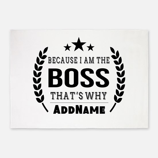 Gifts for Boss Personalized 5'x7'Area Rug