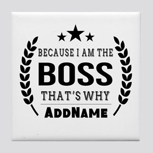 Gifts for Boss Personalized Tile Coaster