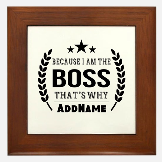 Gifts for Boss Personalized Framed Tile