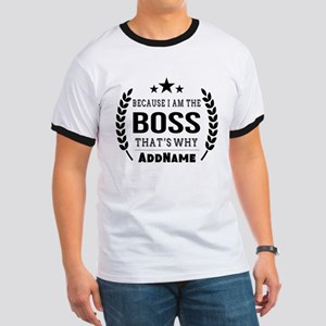 Gifts for Boss Personalized Ringer T