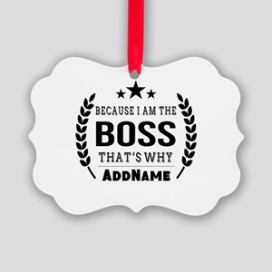 Gifts for Boss Personalized Picture Ornament