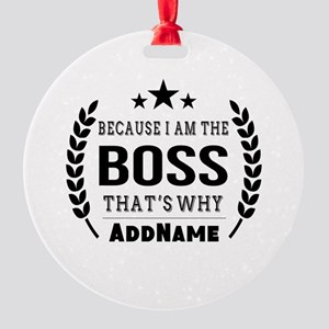 Gifts for Boss Personalized Round Ornament