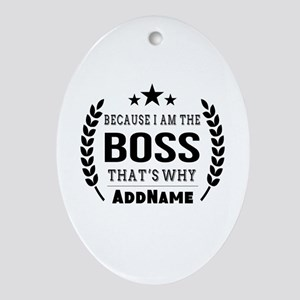 Gifts for Boss Personalized Oval Ornament