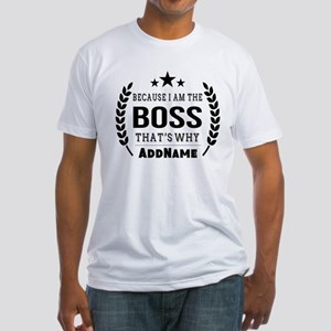 Gifts for Boss Personalized Fitted T-Shirt