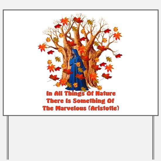 Autumn Pagan Goddess Yard Sign